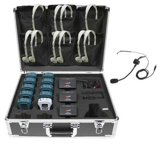 Califone WS-TG10 Tour Guide System 10-Person Wireless Assistive Listening System