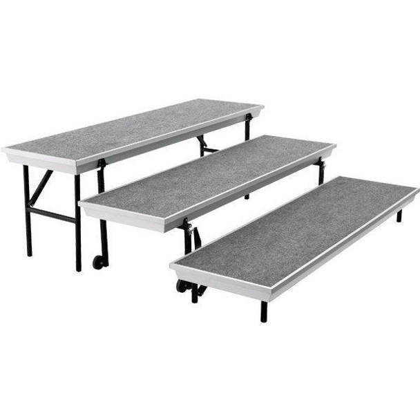 National Public Seating TP72 Three Level TransPort Choral Risers