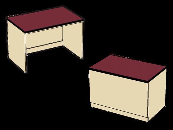Benchmark Circulation Desk Transition Kneespace Unit MediaTechnologies MCD-36KS-32