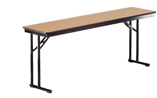 Midwest CP618EF Plywood Core Comfort Leg Seminar Folding Table 18 x 72