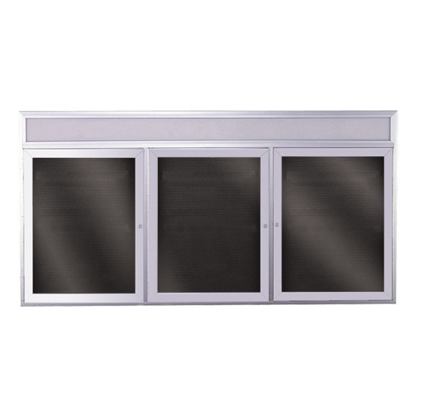 Satin Aluminum Illuminated Headliner Changeable Letterboard Ghent PABL9