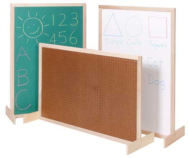 Steffy Wood ANG1123 Pegboard Room Divider 48 Inch Height