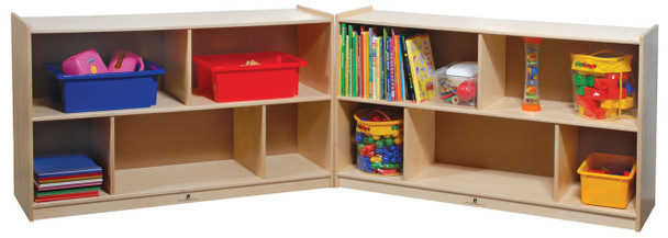 Steffy Wood ANG1007-2 Deep Mobile Fold and Lock Mobile Storage 30 Inch Height