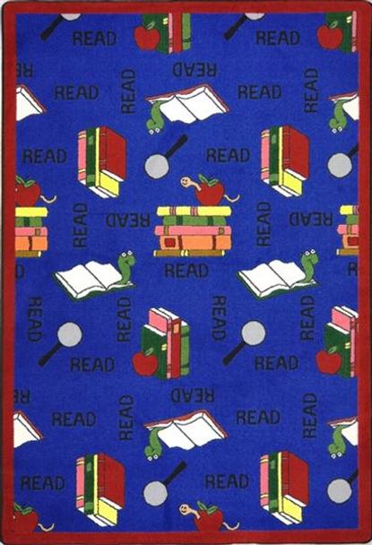 Joy Carpets 1419-B Bookworm Rug 3 ft 10 in x 5 ft 4 in
