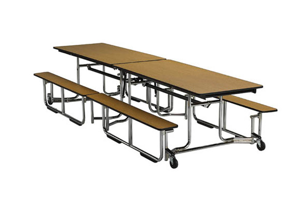 KI Uniframe UF12BE Cafeteria Bench Table 30 x 139
