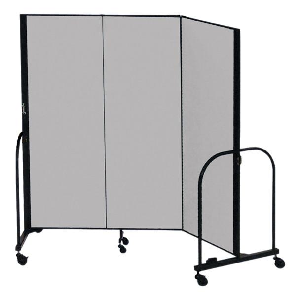 "Screenflex FSL403 Three Panel Room Divider 5'9""D x 4'H"