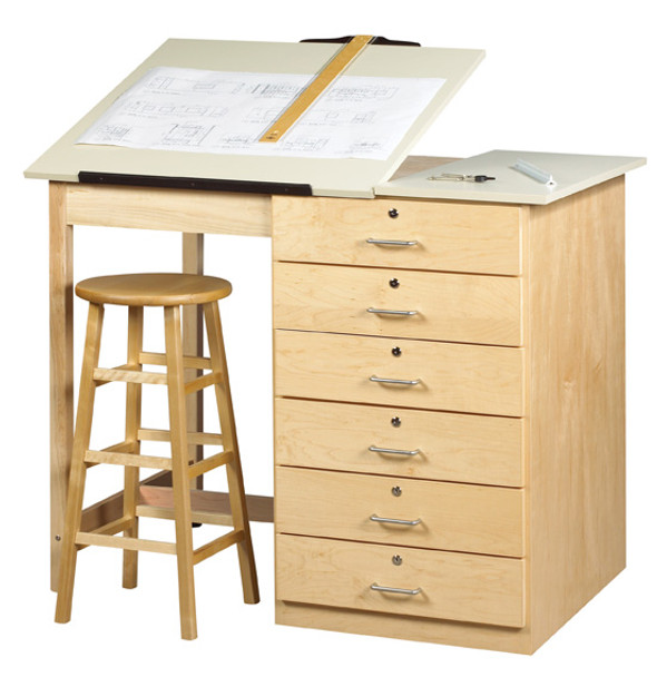Tremendous Shain Dt 8A Drafting And Art Table With Drawers And Adjustable Top Home Interior And Landscaping Analalmasignezvosmurscom