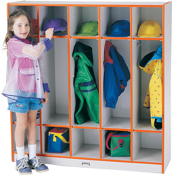 Jonti-Craft 2681JCWW Rainbow Accents Coat Lockers With 5 Sections