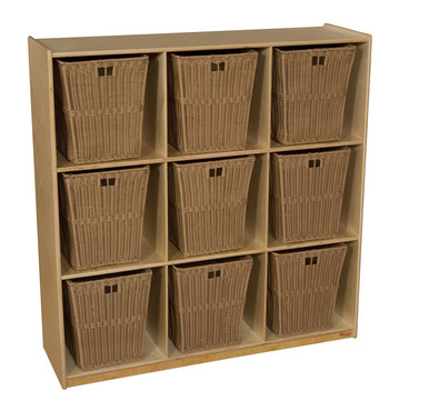 Miraculous Wood Designs Wd50900 720 Cubby Storage With 9 Large Wicker Baskets Ibusinesslaw Wood Chair Design Ideas Ibusinesslaworg