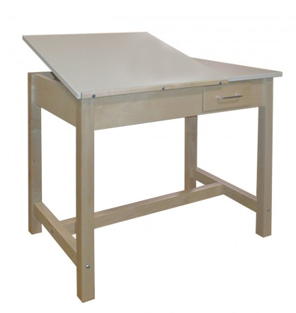 83c89173f6e4 Hann WD-2 Drawing Table 30 Inch Height with Small Storage Drawer Split  Adjustable Top