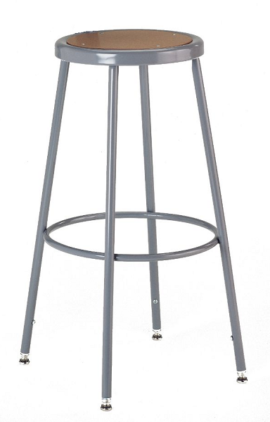 Ki 618a Industrial Steel Rimmed 19 To 27 Inch Adjustable Height Seat