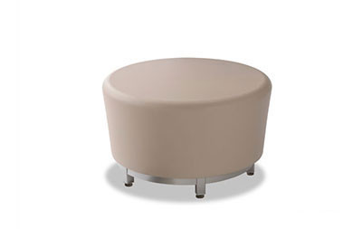 Fine Norix Furniture Hn845 Hn855 Hondo Nuevo Round Ottoman With Steel Base Legs Gmtry Best Dining Table And Chair Ideas Images Gmtryco