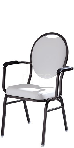 MTS Seating 569-AR Omega I Banquet Stacking Chair Round Back With Arms 18  Inch Seat Height
