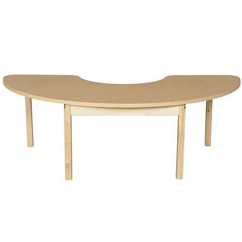 Admirable Wood Designs Wdhpl2476Hcrc24 Half Circle High Pressure Laminate Table With Hardwood Legs 24 Inch Height Caraccident5 Cool Chair Designs And Ideas Caraccident5Info