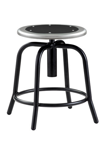Pleasant National Public Seating 6810 10 Adjustable Height Stool With Black Frame And Black Metal Seat Inzonedesignstudio Interior Chair Design Inzonedesignstudiocom