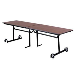 Surprising Ki Uniframe Ufrt10 30 X 120 Folding Cafeteria Table Machost Co Dining Chair Design Ideas Machostcouk