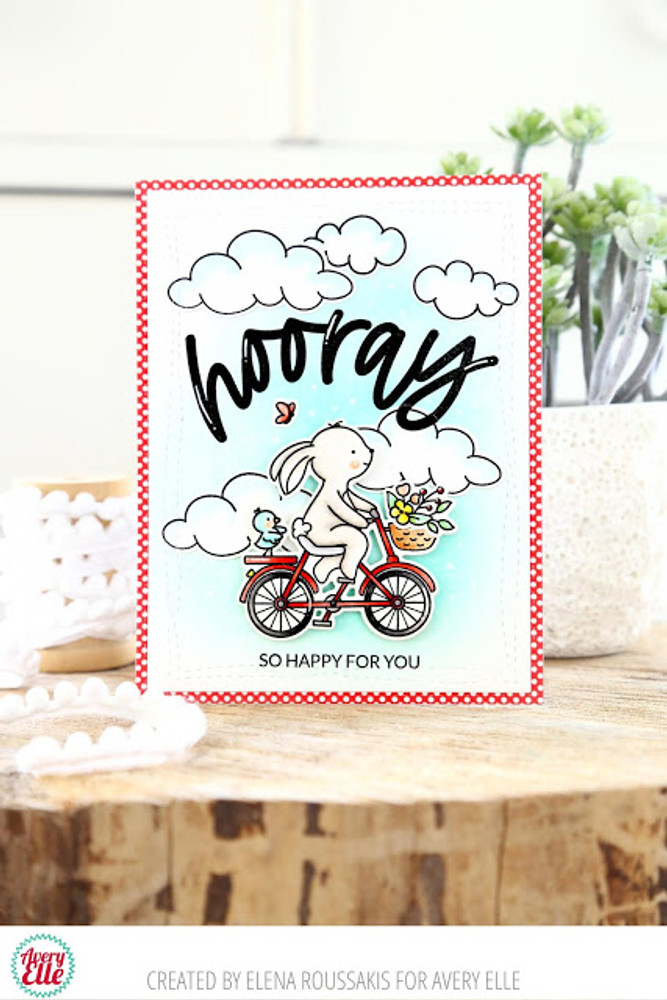 Wheelie Great Clear Stamps & Dies