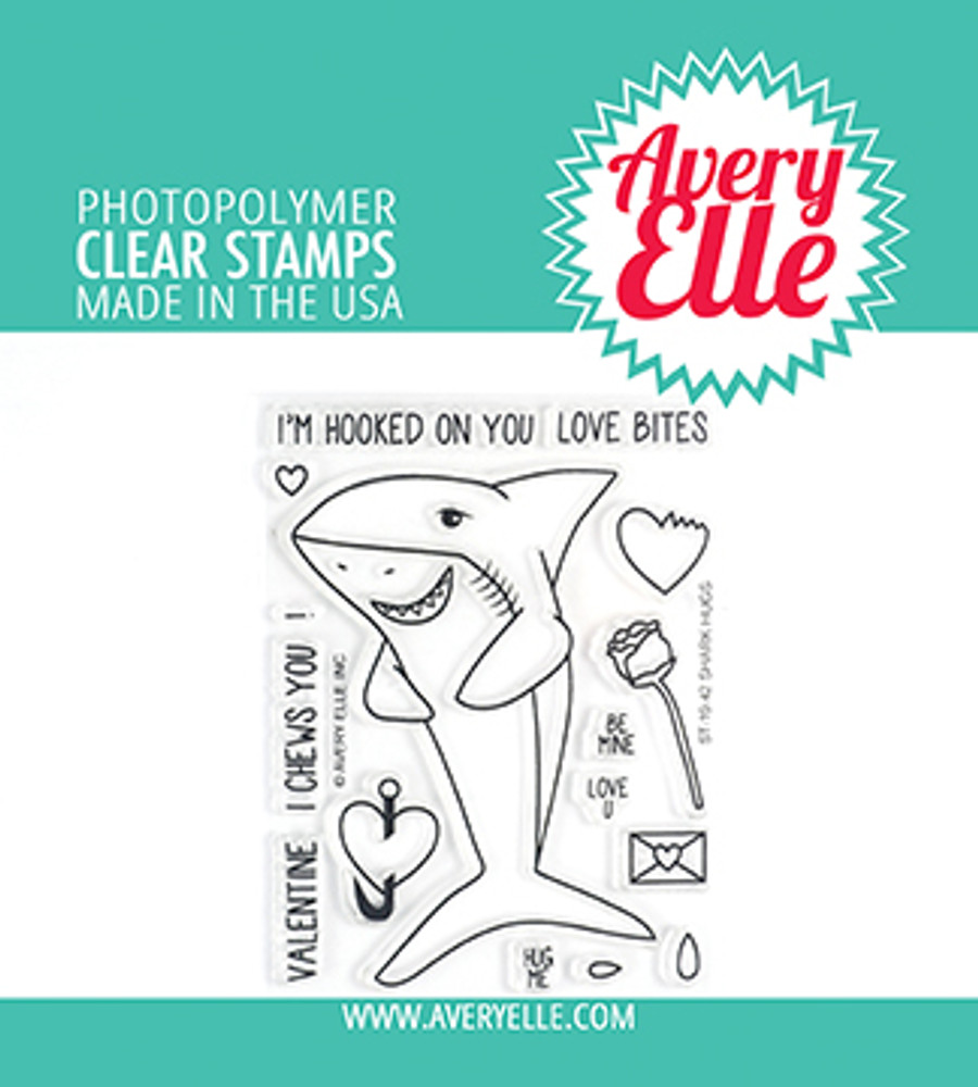 Avery Elle Shark Hugs Clear Stamps