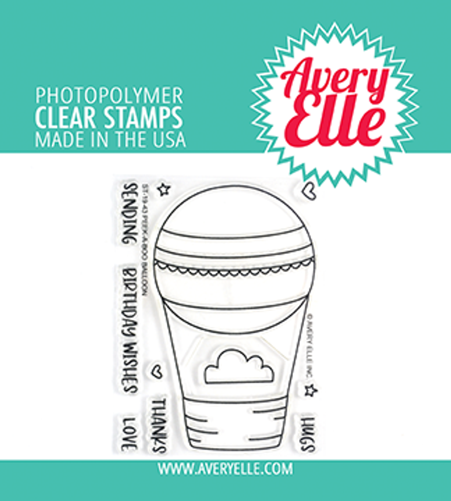 Avery Elle Peek-A-Boo Balloon Clear Stamps