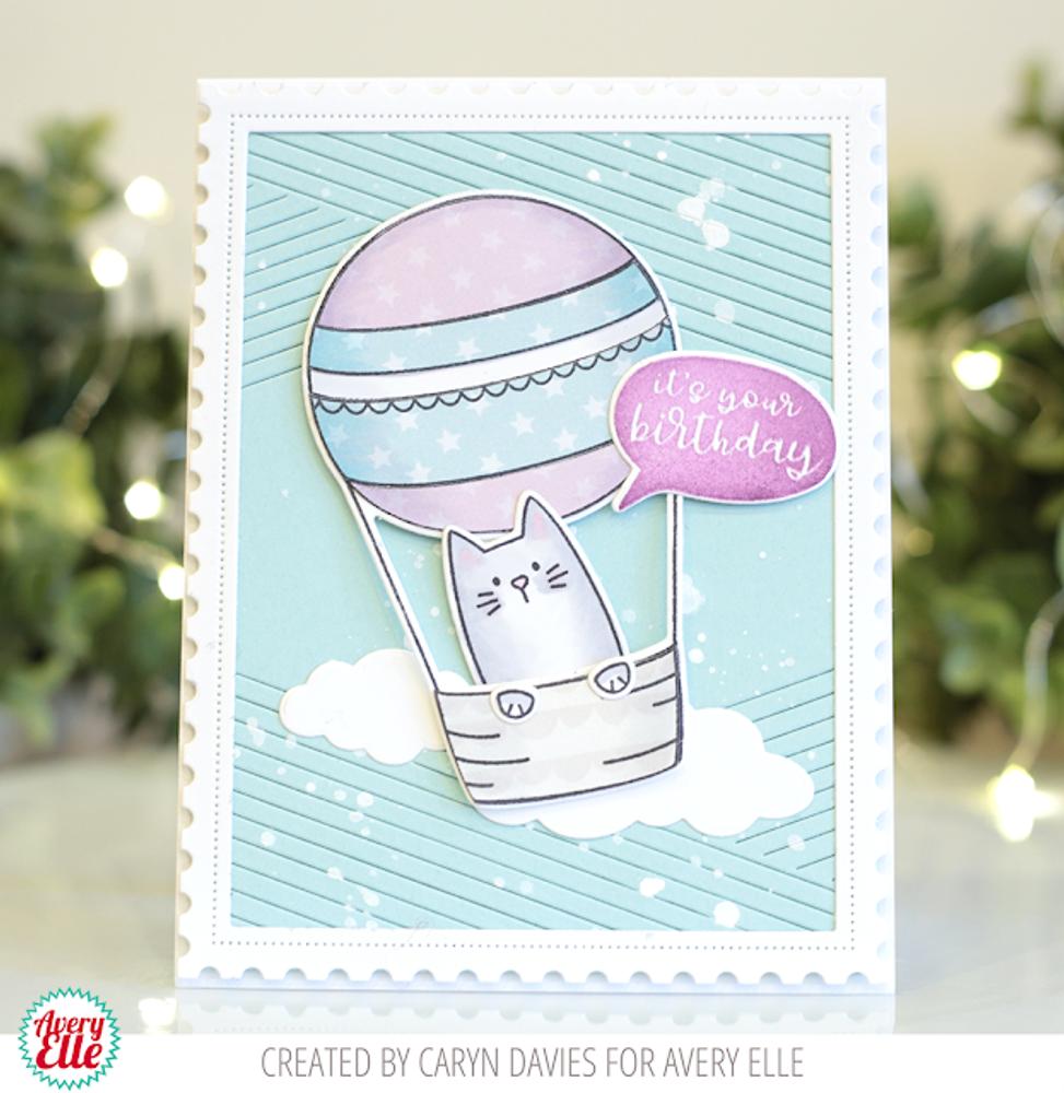 Peek-A-Boo Balloon Clear Stamps & Dies