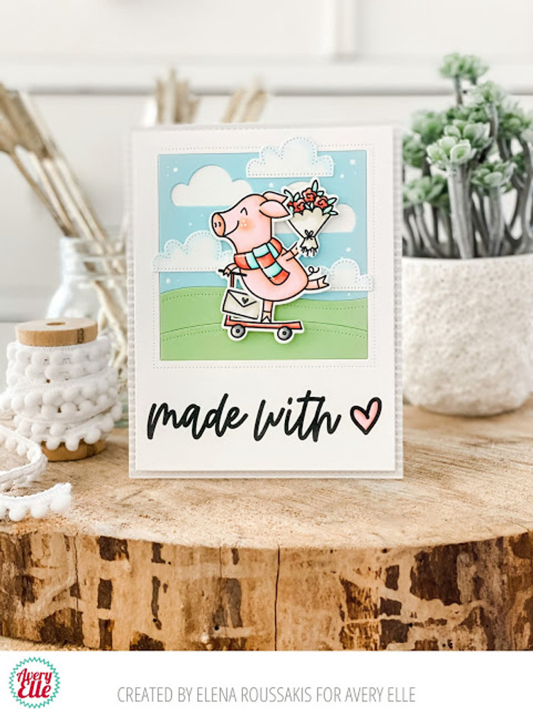 Sweet Swines Clear Stamps & Dies