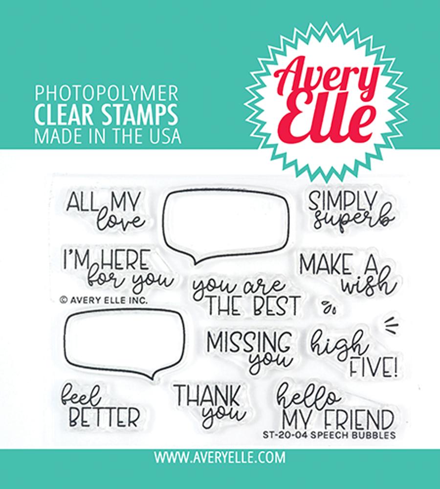Avery Elle Speech Bubbles Clear Stamps