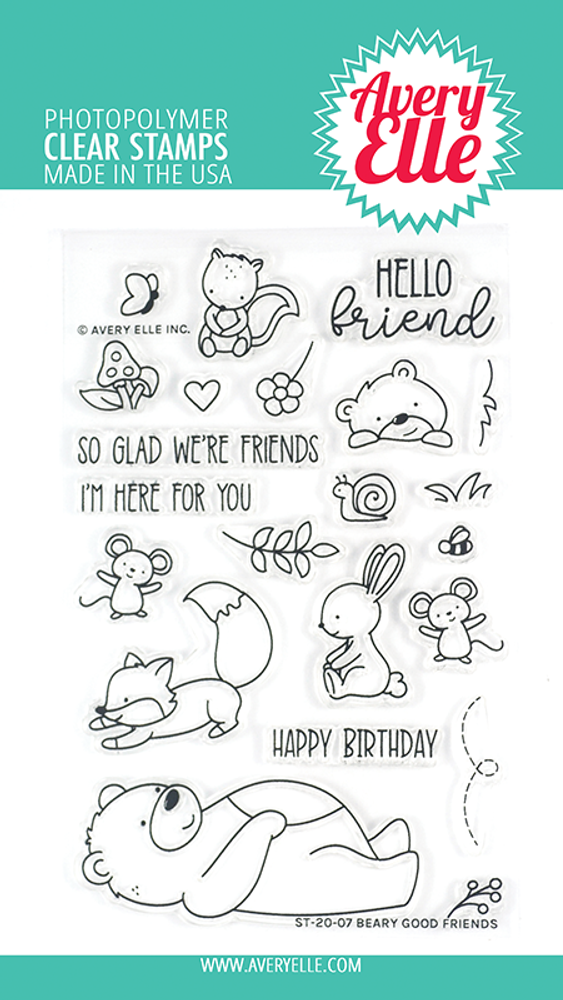 Avery Elle Beary Good Friends Clear Stamps