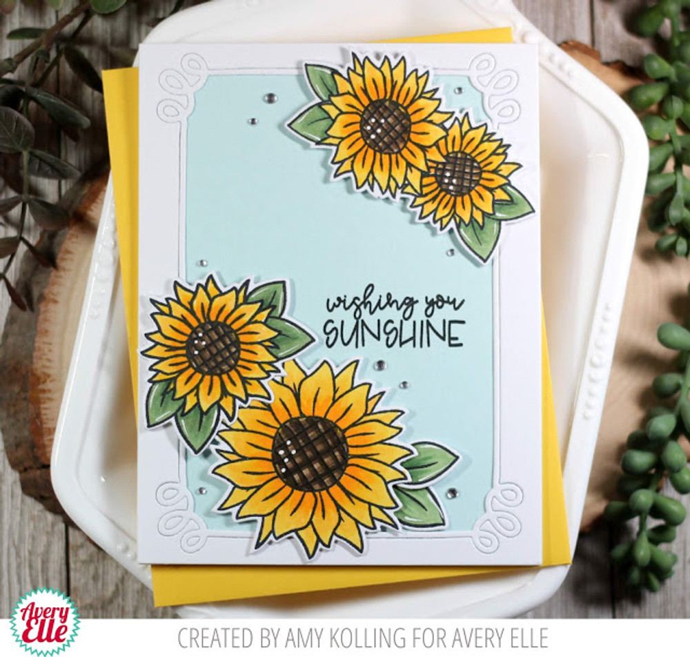 Sunflowers Clear Stamps & Dies