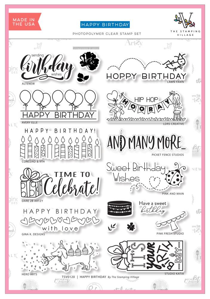 The Stamping Village Happy Birthday Stamp Set