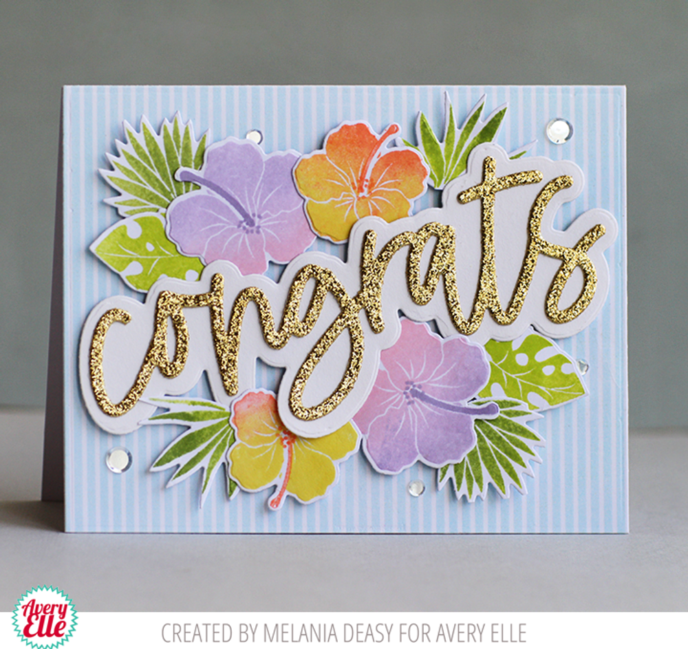 Tropical Bouquet Clear Stamps & Dies