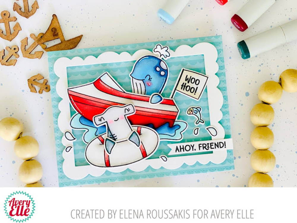 Peek-A-Boo Boat Clear Stamps & Dies
