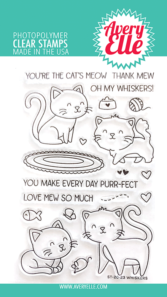 Avery Elle Whiskers Clear Stamps