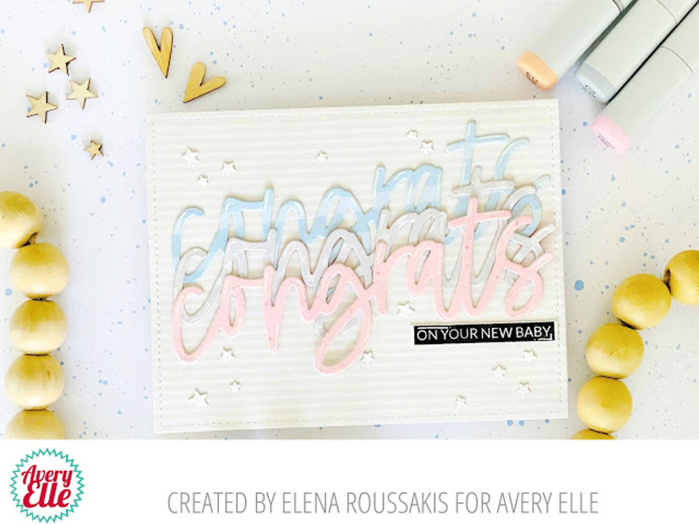 Big Congrats Clear Stamps & Dies