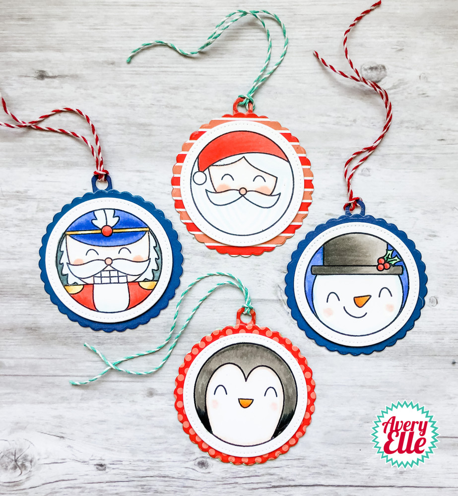 Holiday Circle Tags Clear Stamps & Dies