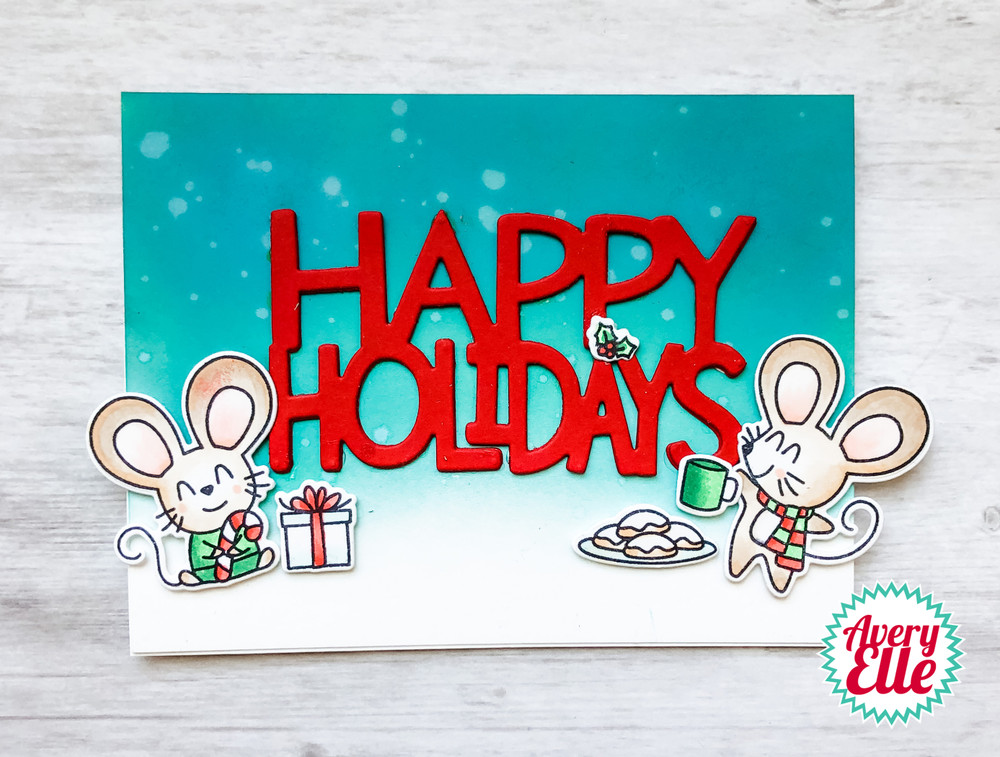 Christmas Mice Clear Stamps & Dies