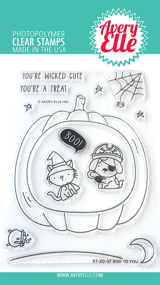Avery Elle Boo To You Clear Stamps