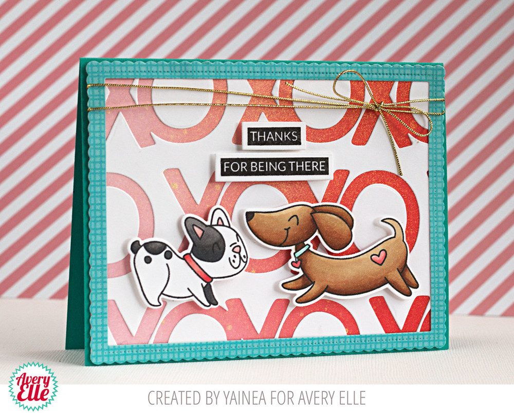 All My Kisses Clear Stamps & Dies