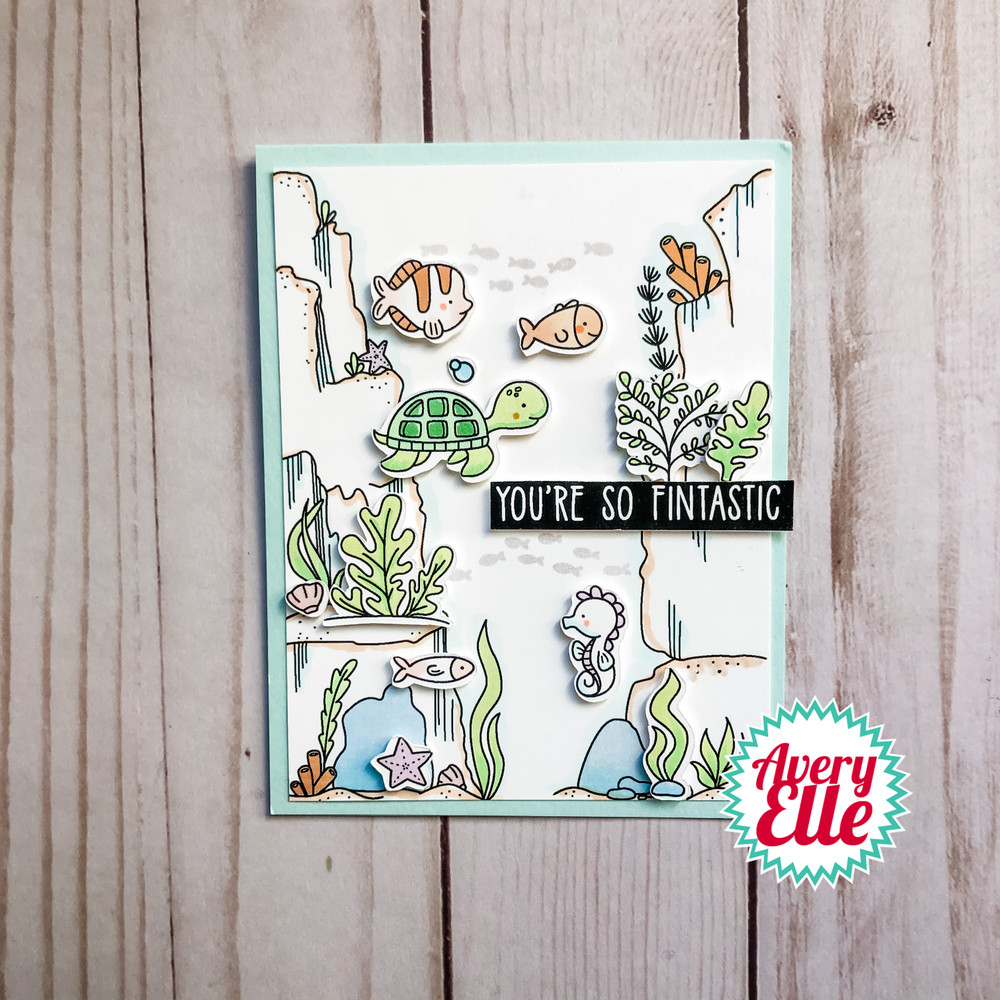 Underwater Background Builder Clear Stamps & Dies