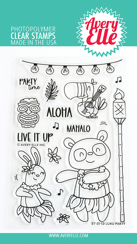 Avery Elle Luau Party Clear Stamps