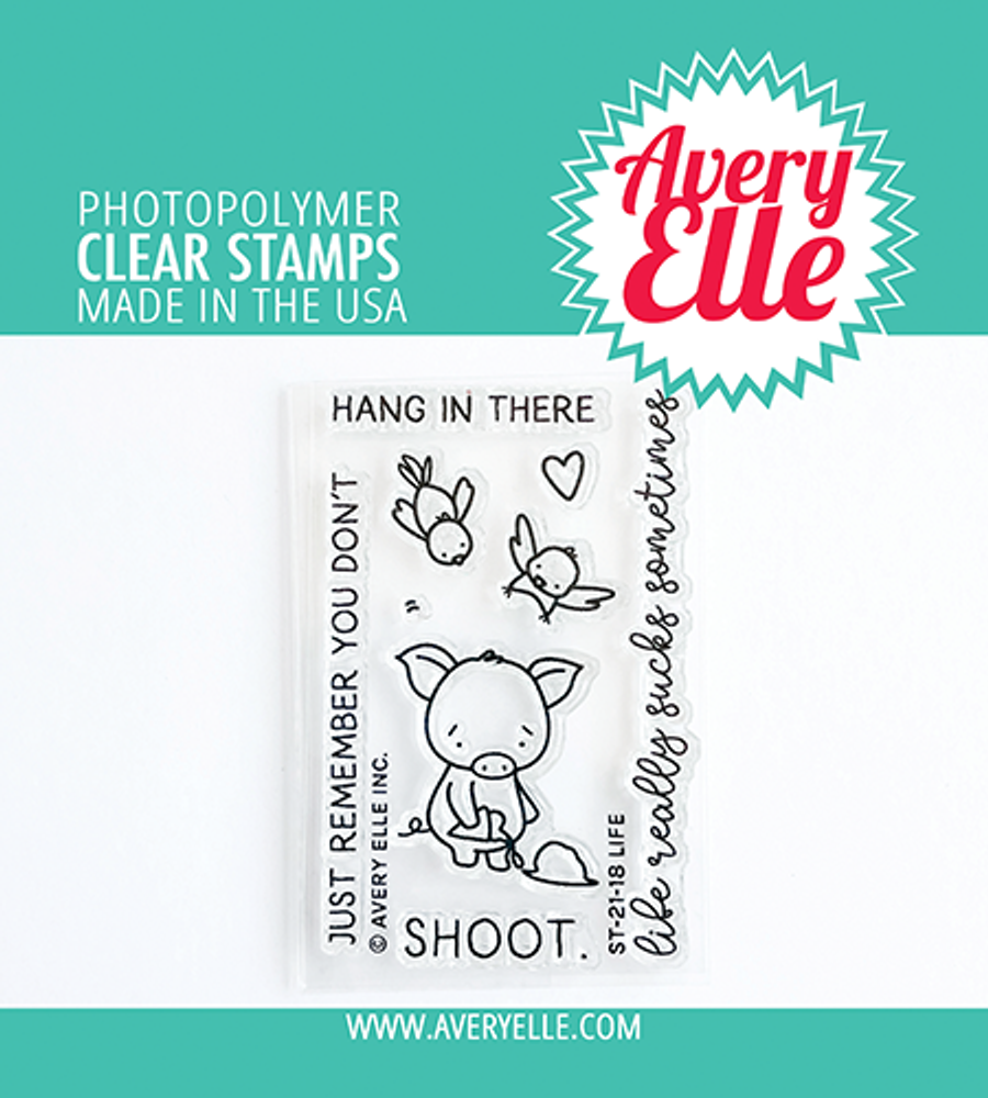 Avery Elle Life Clear Stamps
