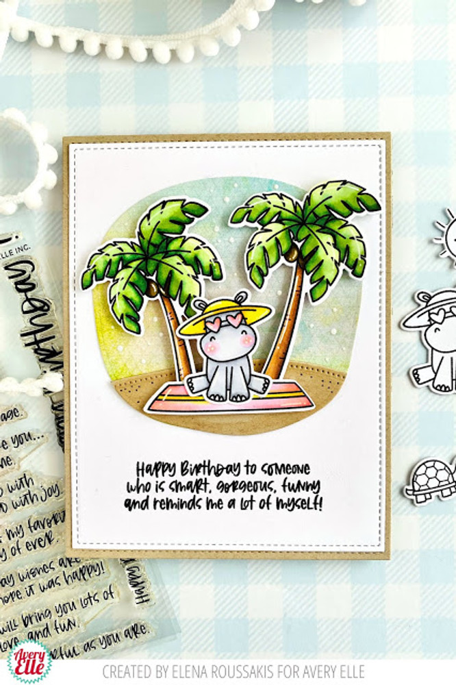 Inside Birthday Greetings Clear Stamps