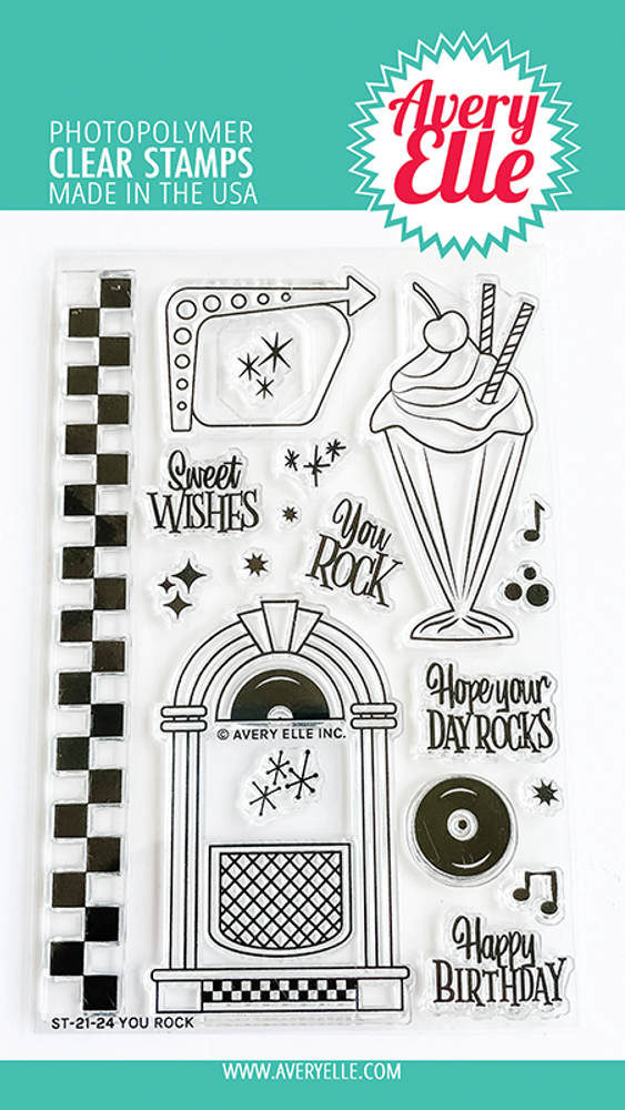 Avery Elle You Rock Clear Stamps