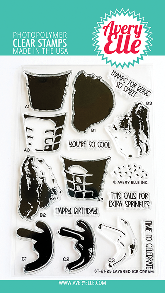 Avery Elle Layered Ice Cream Clear Stamps