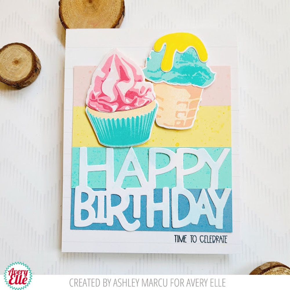 Layered Cupcake Clear Stamps & Dies