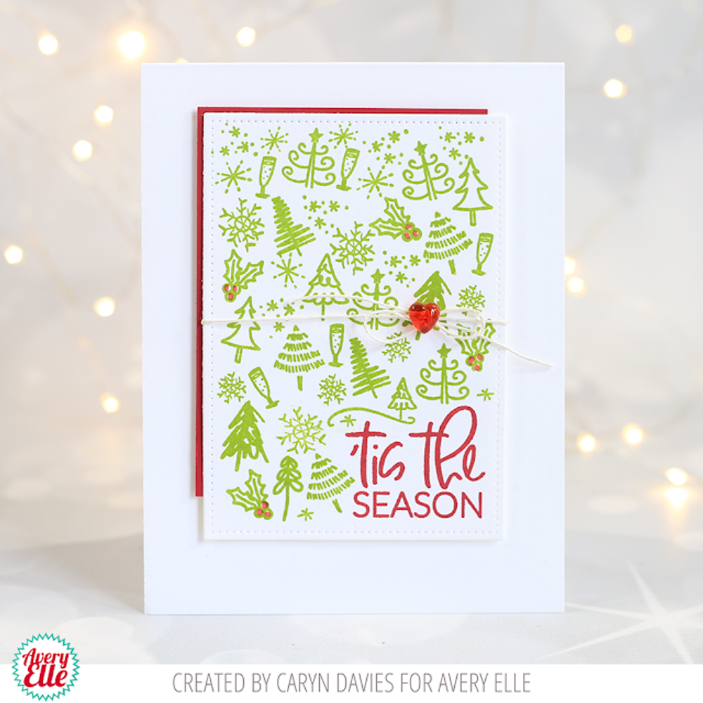 Merry Circle Tags Clear Stamps