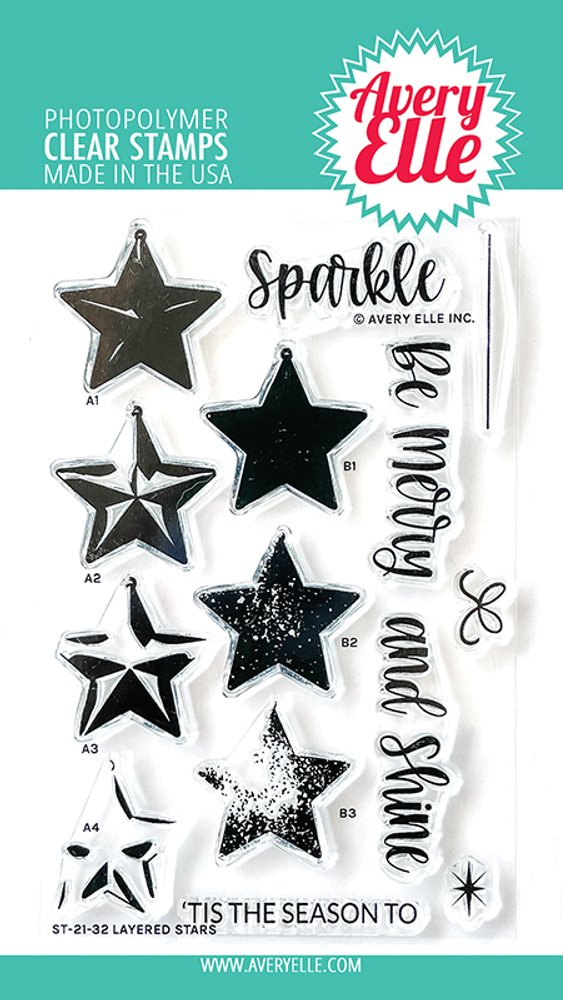 Avery Elle Layered Stars Clear Stamps