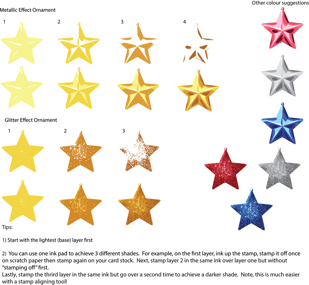 Layered Stars Clear Stamps & Dies  Instructions