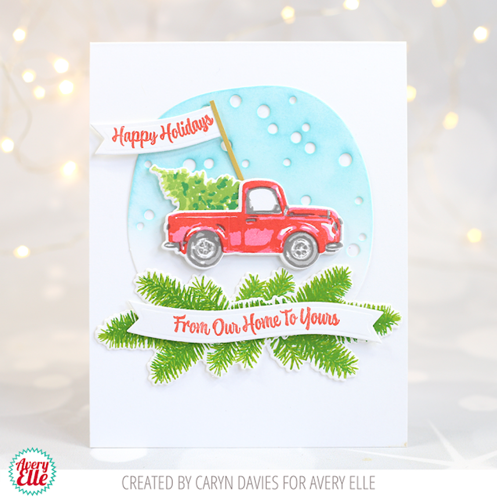 Layered Holiday Truck Clear Stamps & Dies