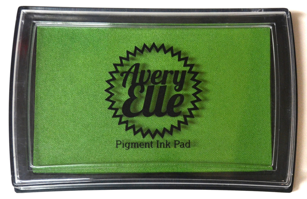 Our Celery Pigment Ink Pad is a gorgeous shade of green and matches our Celery premium card stock.  Our water-based premium pigment inks offer fantastic coverage with our clear stamps and are fast drying, embossable, acid free and non-toxic. Made in Taiwan