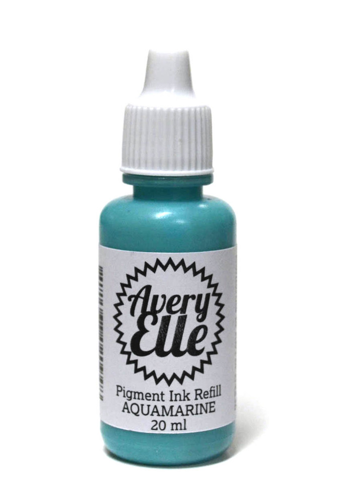 Our Aquamarine Ink Refills extends the life of our Aquamarine Pigment Ink Pads.